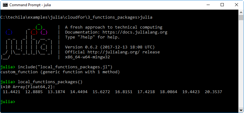 Techila Distributed Computing Engine with Julia